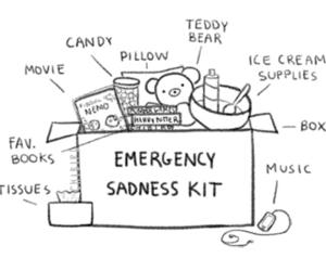 sadness, box, and emergency image