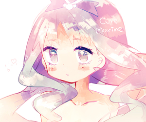 anime girl, colourful, and chibi image