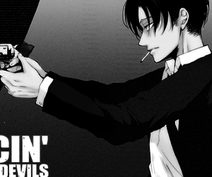 attack on titan, rivaille, and levi ackerman image