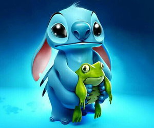 stitch, frog, and disney image