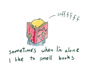 book, smell, and alone image