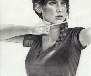 drawing, katniss, and hunger games image