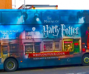 bus, london, and warner bros image
