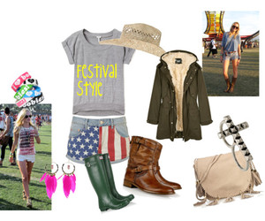 boots, earrings, and hunters image