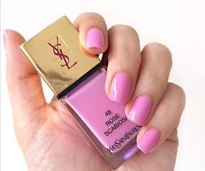 nails, nail art, and YSL image