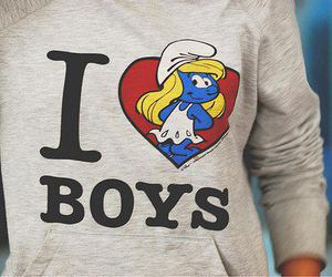 boy, love, and smurfies image