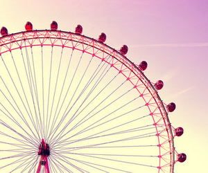 pink, sky, and london image