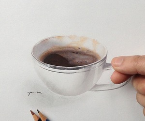 drawing, art, and coffee image