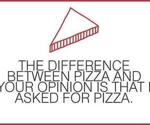 funny, pizza, and quote image
