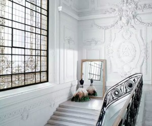 dress, interior, and white image