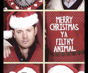 supernatural, christmas, and Jensen Ackles image