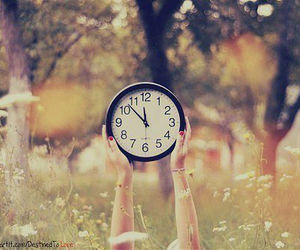 clock, time, and nature image