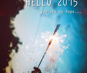 hope, new year, and hello 2015 image