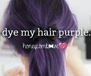 dye, hair, and purple image