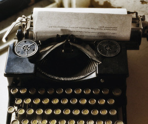 vintage, typewriter, and photography image
