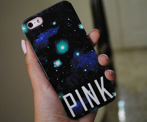 galaxy, pink, and iphone image