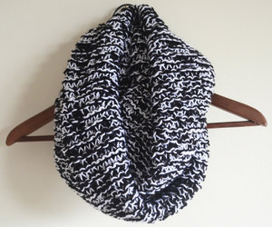blackwhite, scarf, and winter image