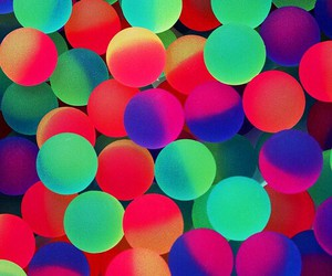 balls, rainbow, and neon image