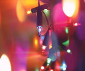 christmas, colorful, and lights image