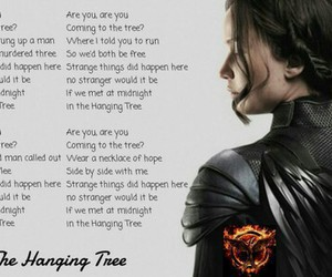 sings, katniss everdeen, and hanging tree image