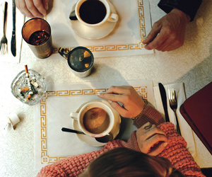 coffee, vintage, and cigarette image