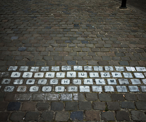 keyboard, street, and art image