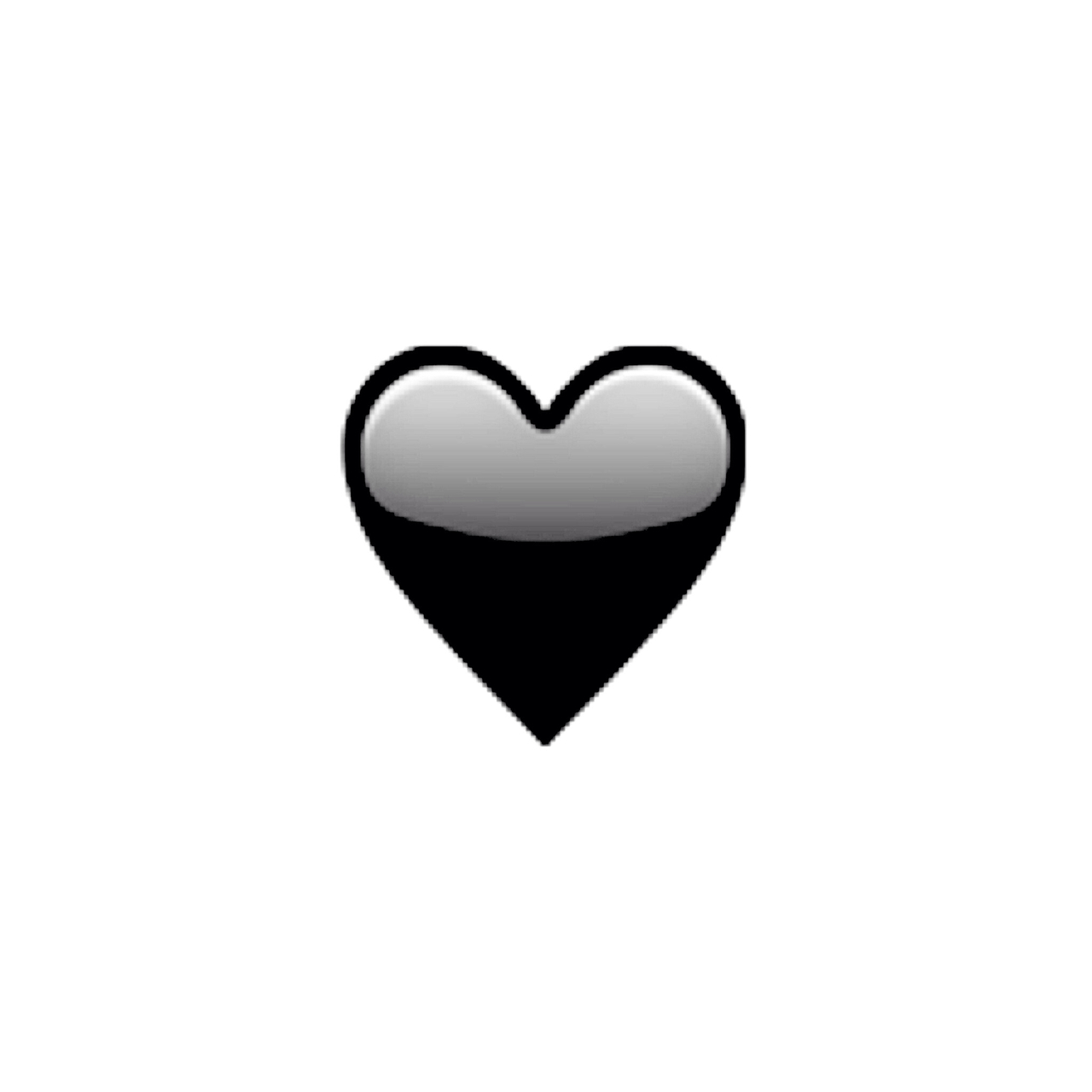 Emoji Herz Schwarz