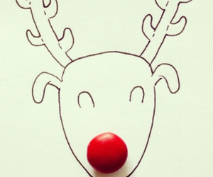 nose, red, and reindeer image