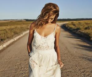 boho, dress, and wedding dress image