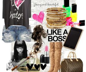 Collage and fashion image