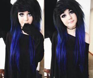 emo, scene, and black hair image