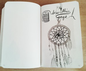 dream catcher, wreck this journal, and WTJ image