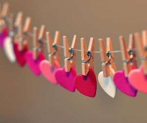 love, hearts, and pink image