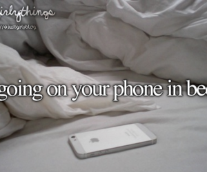 bed, phone, and just girly things image