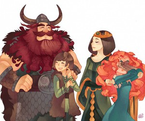 brave, merida, and hiccup image