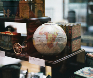 vintage, globe, and photography image