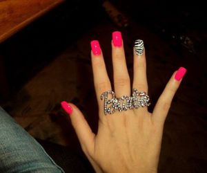 pink, barbie, and nails image