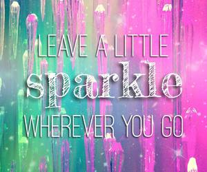 sparkle, quotes, and leave image