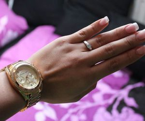 girl, ring, and gold image