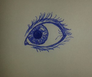 drawing, ink, and eye image