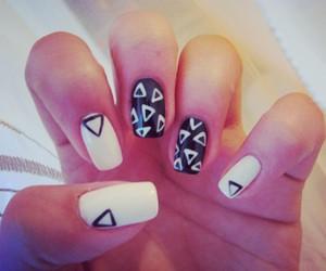 b&w, nail art, and nails image
