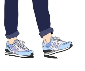 art, overlay, and shoes image