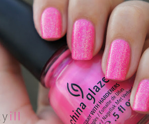 pink, nails, and beauty image