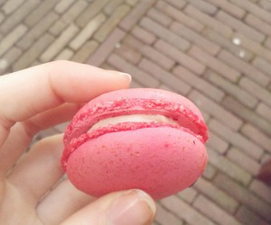 candy, macaron, and pink image