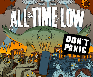all time low, don't panic, and album image