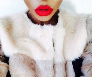 red, lips, and fur image