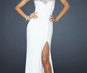 white silver dress image