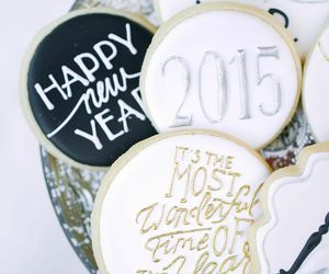 Cookies, food, and happy new year image