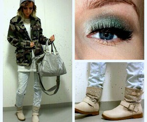 outfit, street style, and makeup image