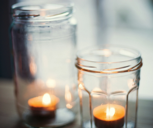 candle, light, and jar image